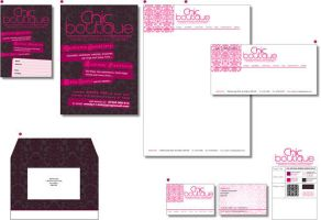 Chic Boutique Stationary by redbrock2205