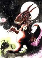 Baby Dragon on Mars by 6nailbomb9
