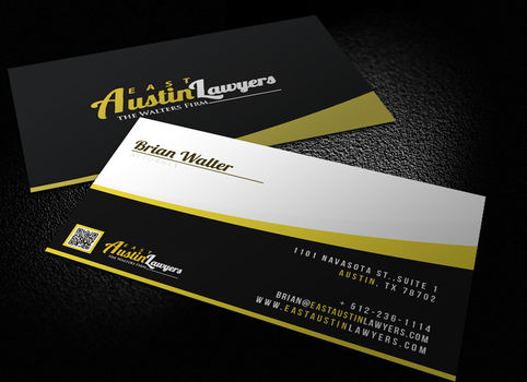 Law Firm Unique Business Card by tech0team