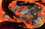 Hobbit - Fire and Water - Bard vs Smaug by caycowa