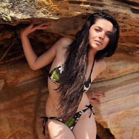 Rosie at cave mouth 1 by wildplaces