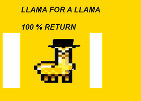 Need A Golden Llama by InspirationalArtists