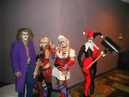 Three Harley's and Mr. J...what's a mad man to do? by RaindropCosplay