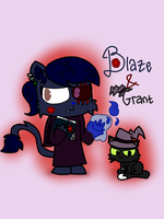 Blaze and Grant  by Mr-Evilness