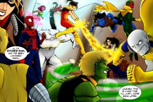 Exiles vs Young Avengers by kra