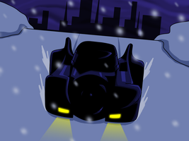 Charge of the Batmobile by AraghenXD