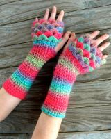 Fae Dragon Gloves by TheCrochetDragon