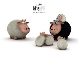 baby sheeps by bsign