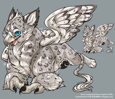 Snow Leopard Griffin by amidst