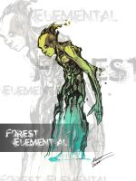 Forest elemental concept art by Chimerum
