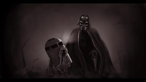 Vader and R2 by z0h3
