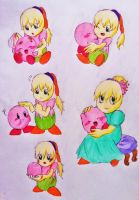 Kirby and Fumu Doodles by DreamPuppeteer