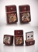 32GB USB Cufflinks - Cocobolo by back2root