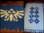 Kingdom Hearts + Legend of Zelda Fleece Blanket by Katrix