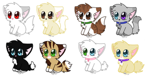 Kitten Adoptibles by Droolinq-Galaxies