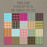 Patterns: Mixed Plaids by HGGraphicDesigns