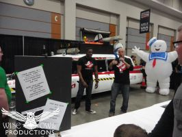 Ernie Hudson Stands Near Ecto-1A by OtakuDude83