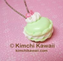 Mint Macaron Necklace by FrostedFleurdeLis