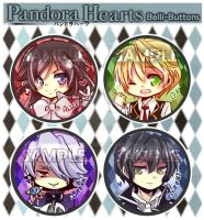 Pandora Hearts Button Set by jinyjin