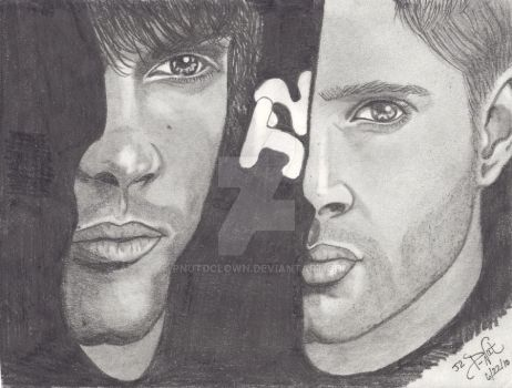 Sam and Dean J2 by pnutdclown