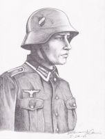 WWII German Soldier by AetheriumDreams
