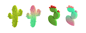 Saguaro And Prickly Pear by uxoric