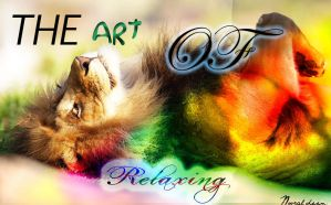 The Art of Relaxing Lion Wallpaper by Nou97