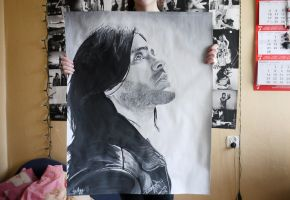 Jared Leto - pic of painting by mrsxbenzedrine