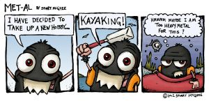 Met-Al Cartoon #3 Kayaking by stuartmcghee