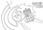 Dr Who Tardis Line Art by whitestarflower