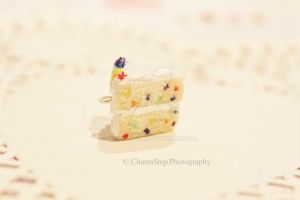 Polymer Clay Confetti Cake Charm by CharmStop