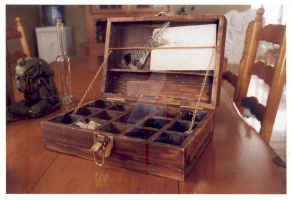 victorian wooden box open by enguerrand