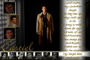 Castiel Wallpaper by raefalcon