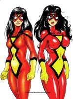 Spider Woman Duo by theEvilTwin