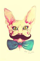 Sir mustache by LunaDiCarlo