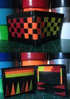 Checkered Fire Wallet by Ultralee0