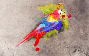 Abstract Parrot by ADesignToRemember