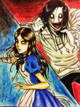 What if.... Alice encountered Jeff The Killer? by XxLevanaxX