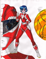 Sailor Mercury Red Ranger by d-nutt
