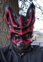 Ruby Wolf Leather Mask - Alpha by Epic-Leather