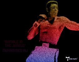 Muhammed Ali Typography Piece RGB by TunedUpGraphics
