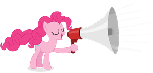 Pinkie Pie Bullhorn by juniberries