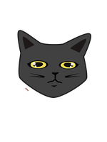 Light Grey Cat Design by surlana