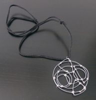 Round Abstract Necklace by smelliga