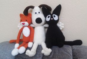 Gromit and his cats by AmaniWarrington
