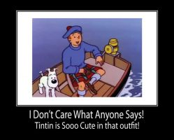 Tintin in Kilt Motivational by TandP