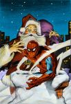 Santa and Spidey by donchild