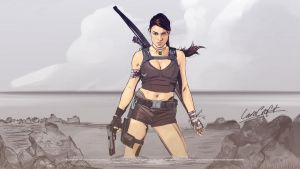 Lara Croft Tomb Raider Crossover by akyanyme