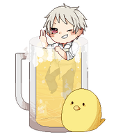 .:aph:. prussia in the beer -pixel- by neruskie