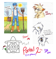 Portal 2 doodles by Spottedfire94